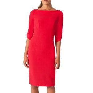 Black halo nuelle sheath red dress.